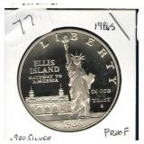 1986-S Ellis Island Proof Commemorative