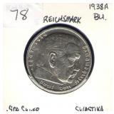 German 1938-A 5 Reichsmark