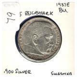German 1937-E 5 Reichsmark