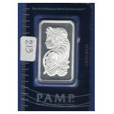 PAMP Suisse 1 oz. Silver Bar
