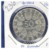 1966 Proof Austria 50 Schilling