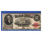 1917 $2 Red Seal Note