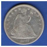 1877-S Seated Liberty Half