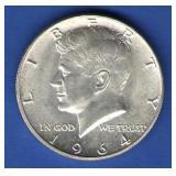 1964 BU Kennedy Half