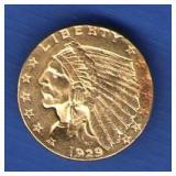 1929 Gold Half Eagle