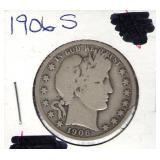 1906-S Barber Half