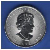 2017 $5 Canada Maple Leaf
