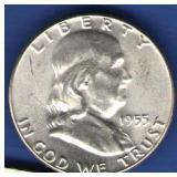 1955 UNC Franklin Half