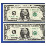 Series 1963 $1 FRB Chicago Consec. Notes (2)
