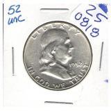 1952 BU Franklin Half