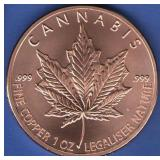 1 oz. Cannabis Copper Round