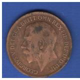 1917 Great Britain One Penny