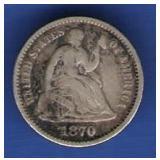 1870 Half Dime