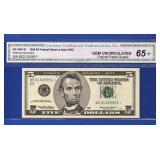 1999 $5 Federal Reserve Star Note