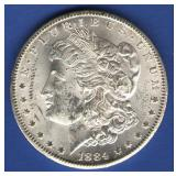 1884-CC BU Morgan Dollar