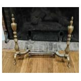 Ornamental Brass Andirons