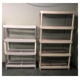 4 Plastic Shelves