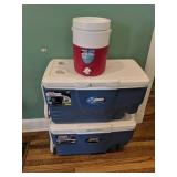 Two Coolers & Water Jug