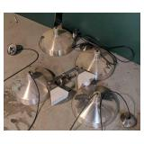 Eight Stainless Pendant Lights