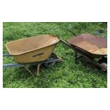 Two True Temper Wheelbarrows