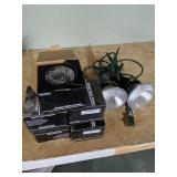 5 Dummy Dome Cameras & Exterior Flood Lights
