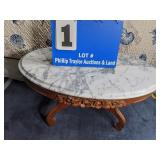 Marble Top Oval Coffee Table
