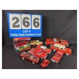RED.....9 Red Die Cast Cars/Trucks