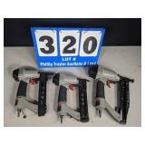 3 piece phnumatic porter cable nail gun set