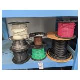 7 Spools of  Wire and Coax
