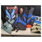 7 Assorted Size Life Jackets