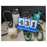 5 Pump Sprayers & 3 Seeders