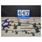 12 Assorted Clamps
