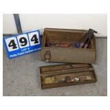 Vintage Tool Box & Contents