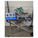 Hitachi 8 1/2 inch Compound Miter Saw on Table