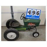 Green Plastic Pedal Tractor