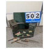 Footlocker, Ammo Cans & Contents