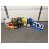 Assortment of Anti-Freeze & Oil