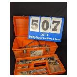 Orange Tool Box Full of Tools