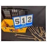 Yellow Tool Box Full of Tools