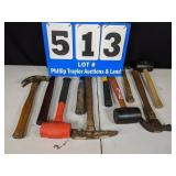 10 Assorted Hammers and Mallets