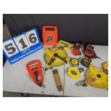 Large Selection of Measuring Tapes of All Sizes