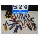 Assortment of Pliers & Utility Knives