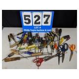 50 Assorted Screwdrivers, Scissors & More