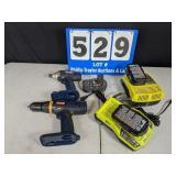 18 Volt Lithium Ryobi Driver/Drill Set