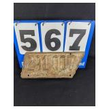 1938 Tennessee Liscense Plate