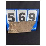 1941 Tennessee Liscense Plate