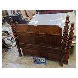 Art Deco Full Size Bed with Rails