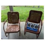 Two Vintage Outdoor Chairs