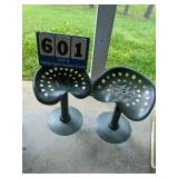 Pair of Tractor Seat Stools