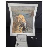 """Yellow Labrador"" Print by Ralph McDonald 79/450"